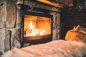 warm cozy fireplace with real wood burning in it cozy winter