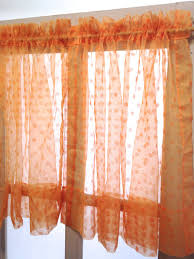 Sheer Curtains Orange Reserved For Jon Retro Orange Polka Dot Sheer Curtain Panels
