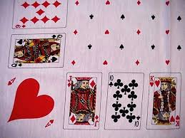 card game table cloth vintage playing cards game poker bridge tablecloth kings queens