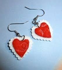 felt earrings heart felt earrings favecrafts