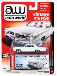 1964 pontiac grand prix white auto world aw64032a 1 64 scale