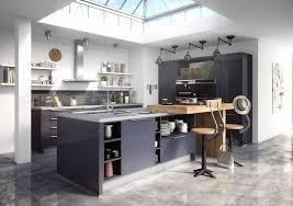 photo de cuisine avec ilot réalisation d un aménagement de cuisine avec îlot le havre odyssée