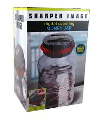 amazon com sharper image digital counting coin money jar piggy