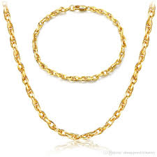 gold necklace womens images 2018 fashion women 4mm gold chains 18k real gold plated basic jpg