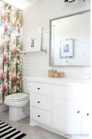 shiplap u0027s bathroom reveal crazy wonderful