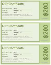 gift certificate free template for word