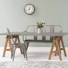 trestle dining table with bench trestle style dining tables our pick of the best ideal home