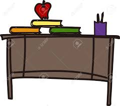 we love this teacher desk design to decorate a sign or flag for