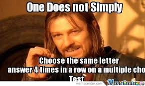 Multiple Picture Meme - multiple choice test by idealtwithit48 meme center