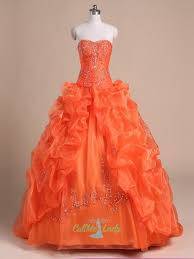 orange quinceanera dresses orange sleeveless ups tulle quinceanera dress gown prom