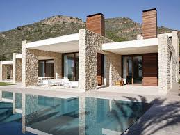 differing heights wall style modern house intersected look home