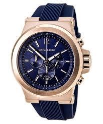 bracelet homme montre images Michael kors chronographe dylan navy silicone bracelet mk8295 jpg