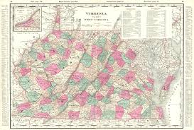 Virginia Map With Cities And Towns by Maps Antique United States Us States West Virginia