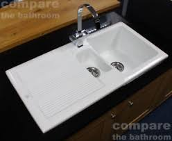 White Ceramic Kitchen Sink 1 5 Bowl Ceramic 1 5 Bowl Kitchen Sink With Waste By Rak Ceramics White 20