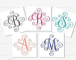 monogram letter stickers letter stickers etsy