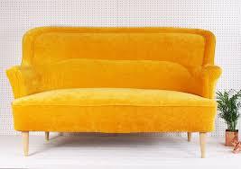 vintage original 1950 u0027s sofa in dandelion yellow velvet