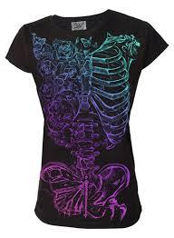 butterfly ribs womens t shirt