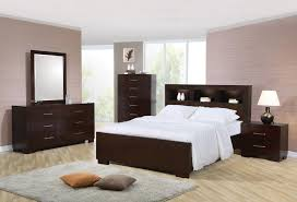 Contemporary King Bedroom Sets Coaster Jessica King Contemporary Bed With Storage Headboard And