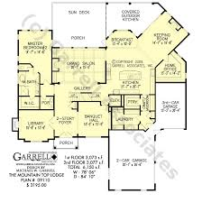 Floor Plans For Mountain Homes Mountain Top Lodge House Plan House Plans By Garrell Associates