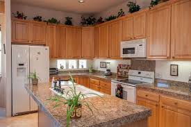 oak cabinets with granite granite countertops with oak cabinets great home interior and