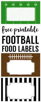 football party decorations football food labels free printable football party decorations