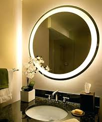 Bathroom Mirror With Lights Built In Wall Mirror With Lights Freeiam