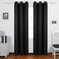 Tende Nere Ikea by Amazon Com Deconovo Window Curtain Panel Room Darkening Blackout