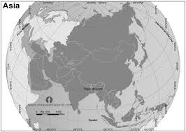 asia globe map free asia zoomed globe map black and white black and white
