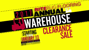 riterug flooring warehouse sale january 2017