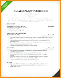 sample entry level paralegal resume paralegal resume example