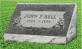 granite grave markers single slant granite headstones bluhm monument works inc