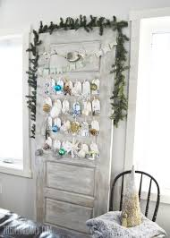 make a daily ornament advent calendar from an old door the diy mommy