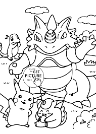pokemon dragon manga coloring pages for kids printable free