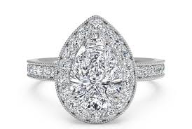 vintage halo engagement rings pear shaped vintage halo engagement ring with