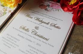 wedding invitations jakarta jolly s dreams wedding invitations in jakarta