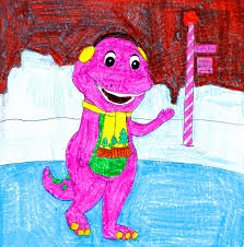 barney ice skating by bestbarneyfan on deviantart