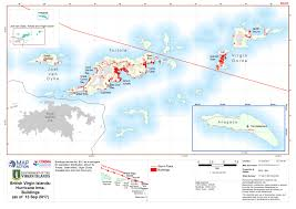 Map Of Virgin Islands Hurricane Irma September 2017 Mapaction