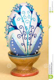 easter eggs decoration embroidery beads stock photo image 8281240