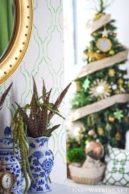 my home style green and gold global eclectic christmas tree i opted for a gold and green color scheme that complements my entryway you can see my winter entryway shared on part one of my home tour here decorating