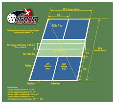 court diagram pickleball court dimensions