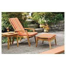 oxford garden siena reclining armchair natural shorea target