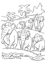 elephants in the jungle coloring page free printable coloring pages