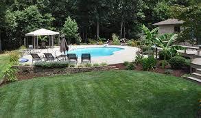 Backyard Pool Landscape Ideas Backyard Above Ground Pool Landscaping Ideas Helena Source