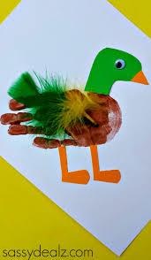mallard duck handprint craft for kids mallard craft and pond life