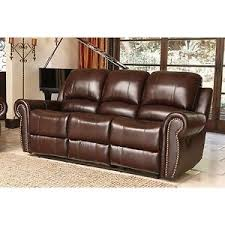 Top Grain Leather Reclining Sofa Bentley Top Grain Leather Reclining Sofa New Ebay