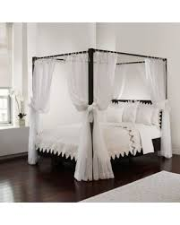 Sheer Bed Canopy Don T Miss This Bargain Tie Sheer Bed Canopy Curtain Set In White
