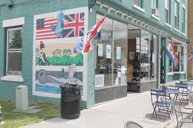 flower shops in plattsburgh ny sheilahight decorations one mural at a time artists transform downtown plattsburgh ncpr there is also a mural commemorating the battle of plattsburgh on the side of a wine
