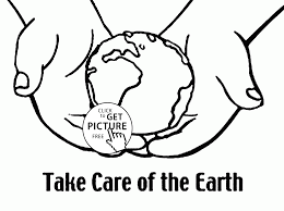 take care of the earth earth day coloring page for kids