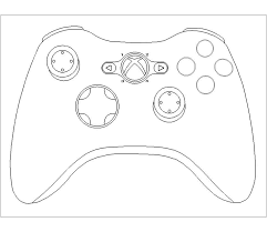 coloring page xbox