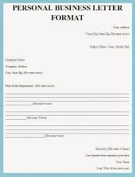 business letter format example formal business letter format
